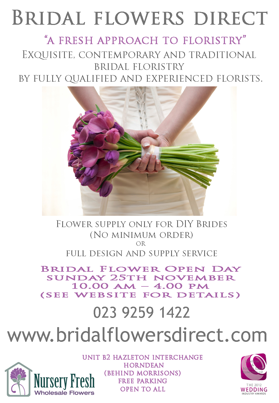 Bridal Flower Open Day Sunday 25th November 2012 – Nursery Fresh Ltd