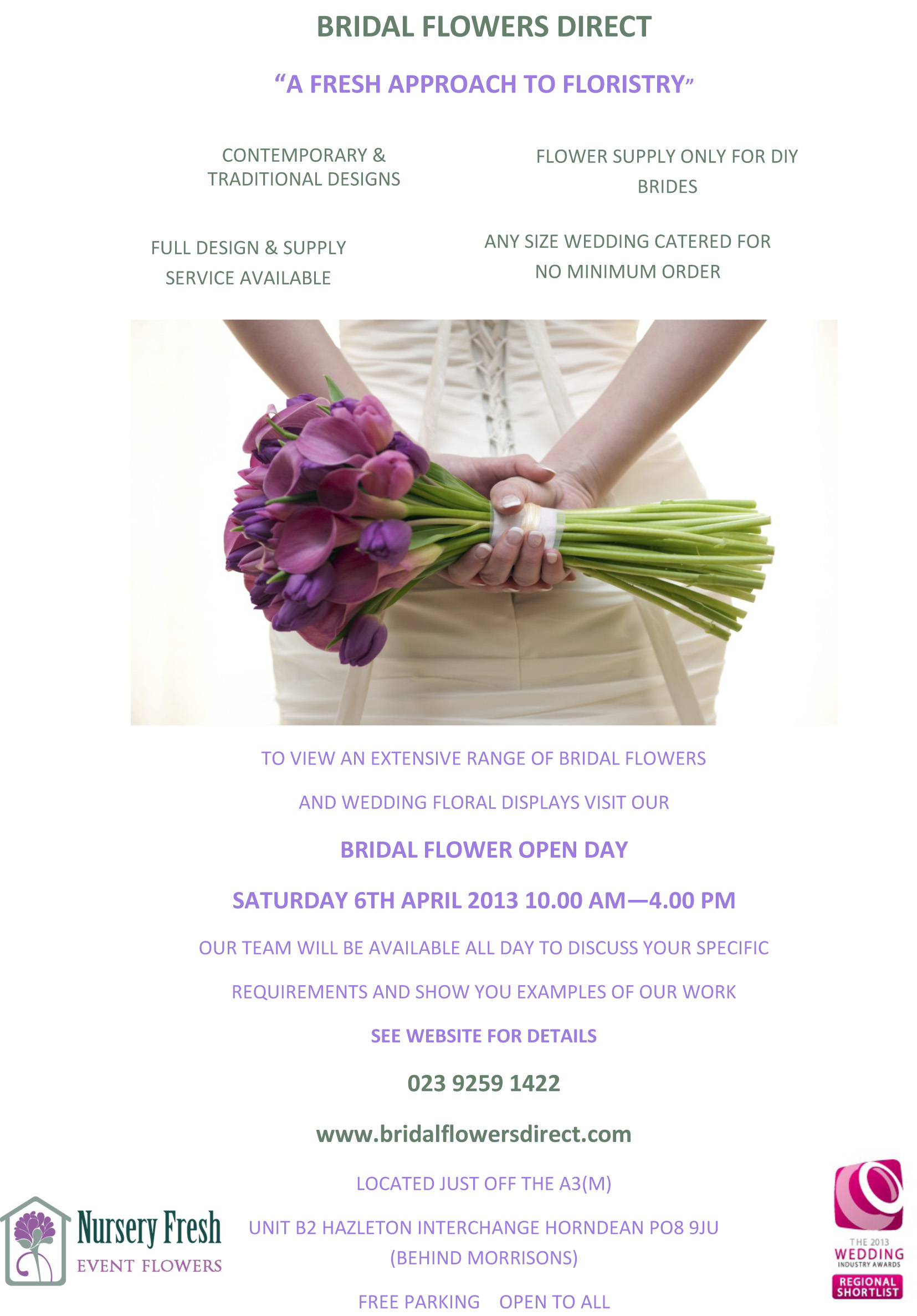 Bridal Flower Open Day Saturday 6th April 2013 Bridal Flowers Direct