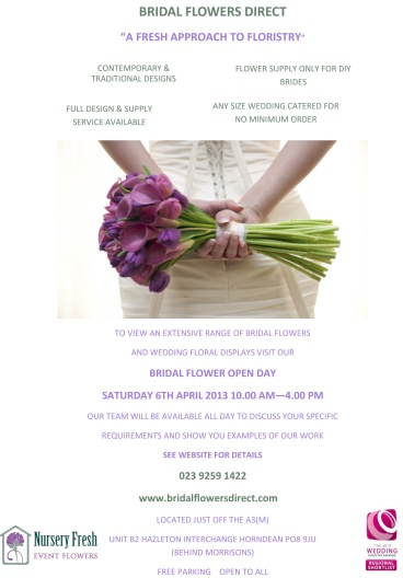 Bridal Open Day Flyer April 2013