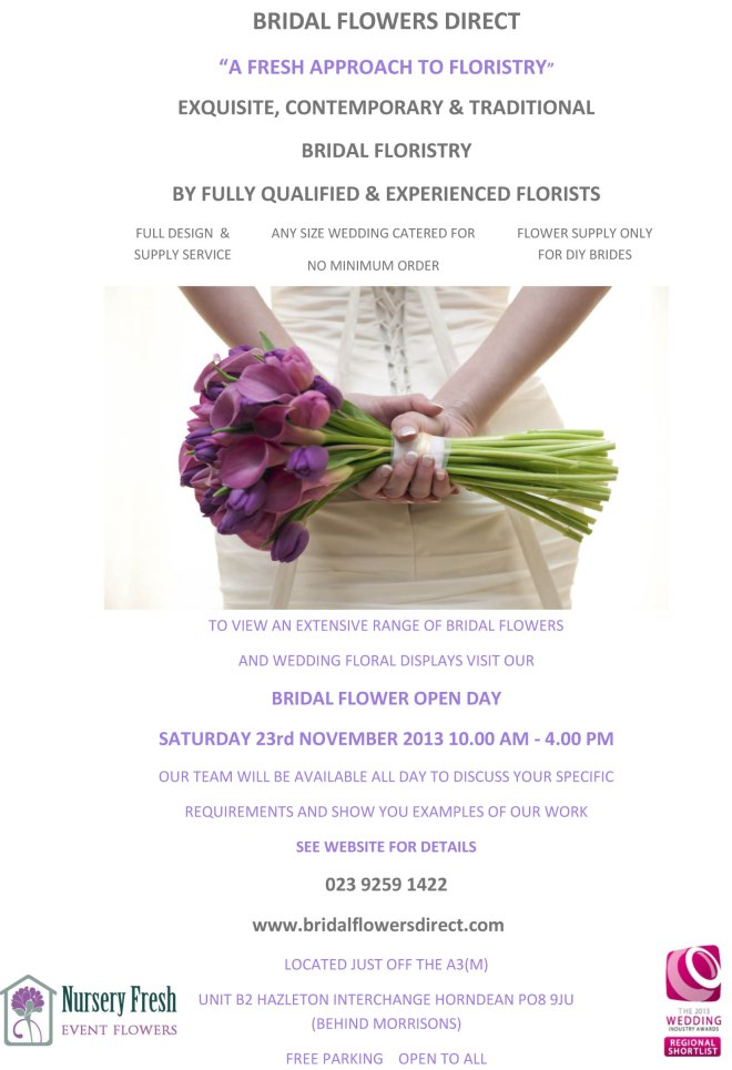 Bridal Open Day Flyer November 2013